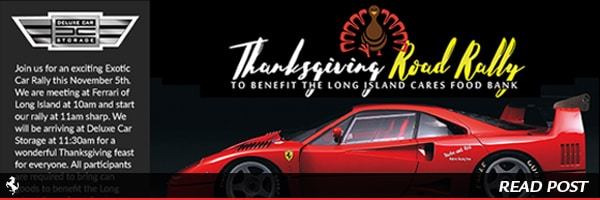 Thanksgiving Exotic Car Rally this November 5th in Long Island NY