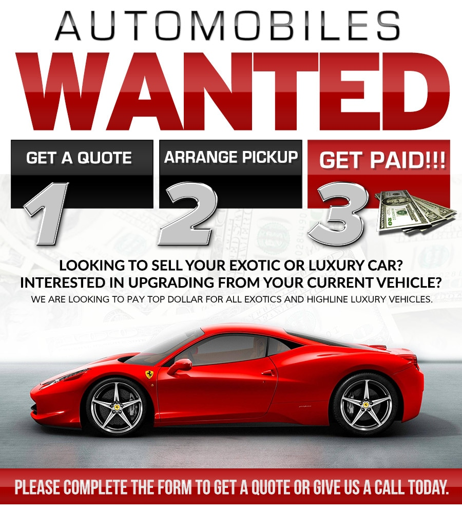 Get a trade-in appraisal quote for your exotic car today!