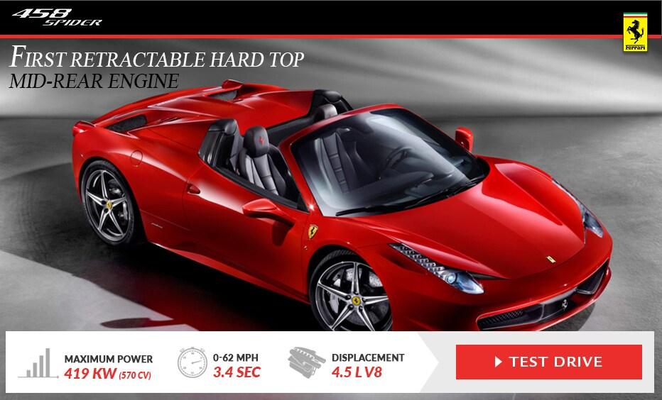 Drive A Ferrari 458 Spider At Ferrari Of Long Island In Ny
