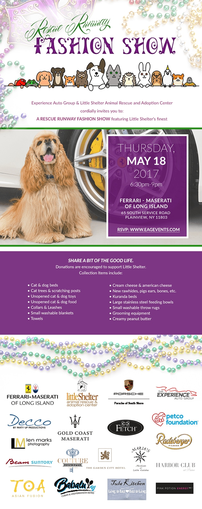 Rescue Runway Fashion Show - May 28th