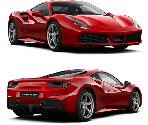 Ferrari 488 GTB Exteror in Red