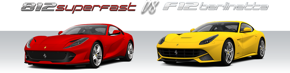 Ferrari 812 Superfast vs F12 Berlinetta