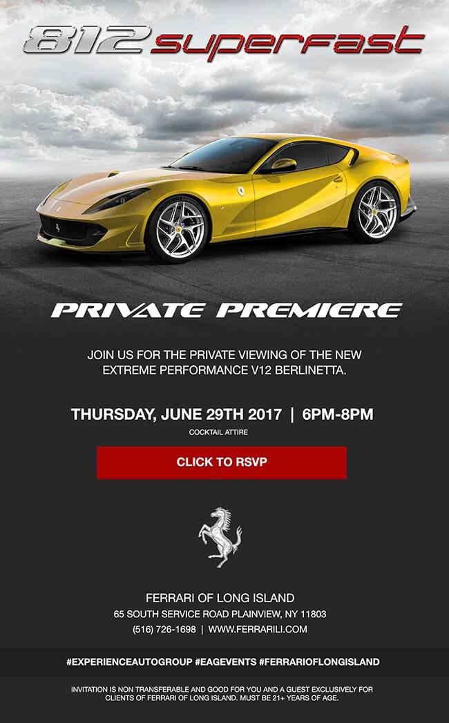 Private Premiere of the Ferrari 812superfast