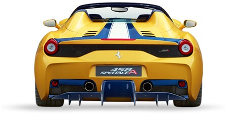 Ferrari 458 Speciale A rear view