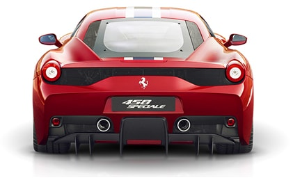 Ferrari 458 Speciale rear view
