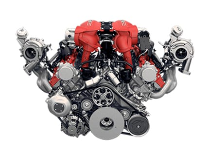 Ferrari 488 Spider turbo engine