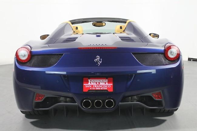 used 2012 ferrari 458 spider san francisco ca zff68nhaxc0187301