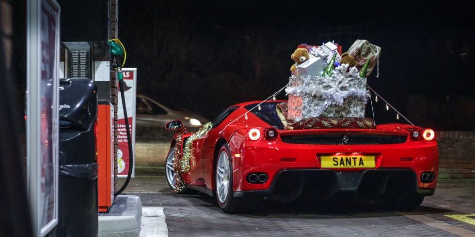 Santa Upgraded His Sleigh To A Ferrari Enzo Ferrari Of San Francisco