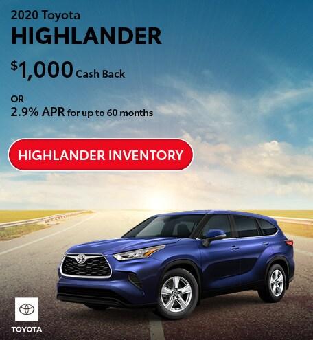 July 2020 Toyota Highlander