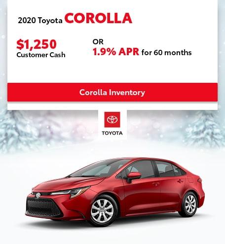 January 2020 Toyota Corolla
