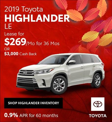 November 2019 Toyota Highlander