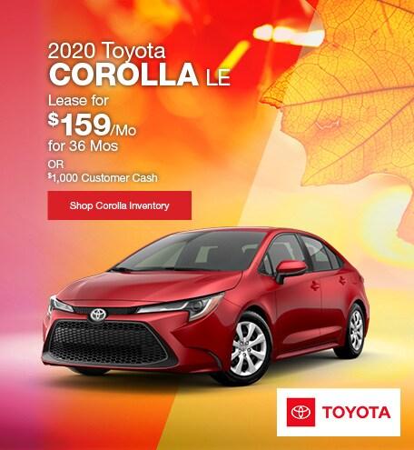 September 2020 Toyota Corolla