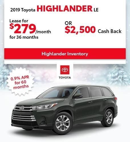 January 2019 Toyota Highlander
