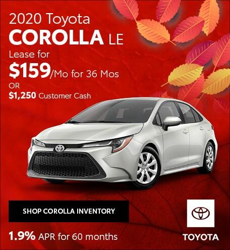 November 2020 Toyota Corolla