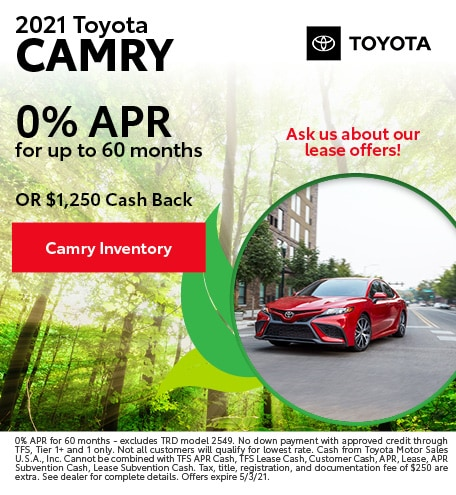 April 2021 Toyota Camry