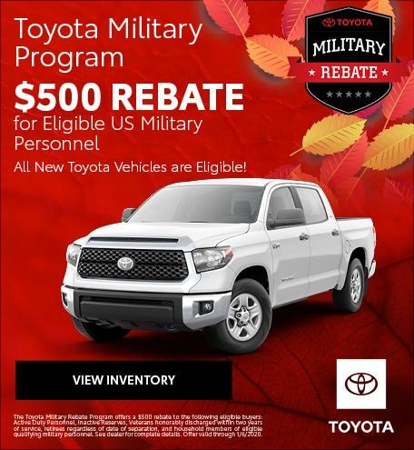 November 2019 Toyota Military Program