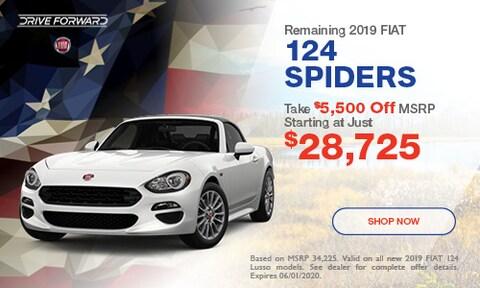 Remaining 2019 FIAT 124 Spiders