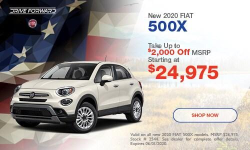 New 2020 FIAT 500X