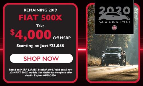 Remaining 2019 FIAT 500X