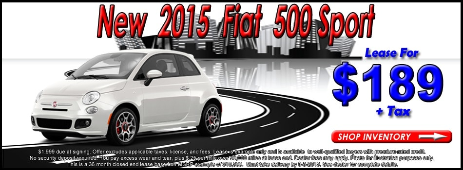 Lease A FIAT At Champion FIAT Near Santa Monica CA - Lease fiat 500