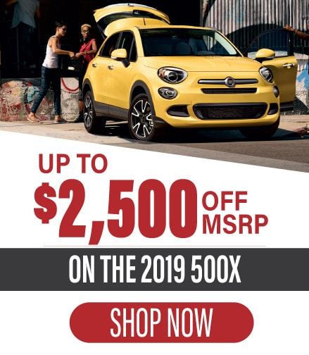 Get the 2019 Fiat 500X!