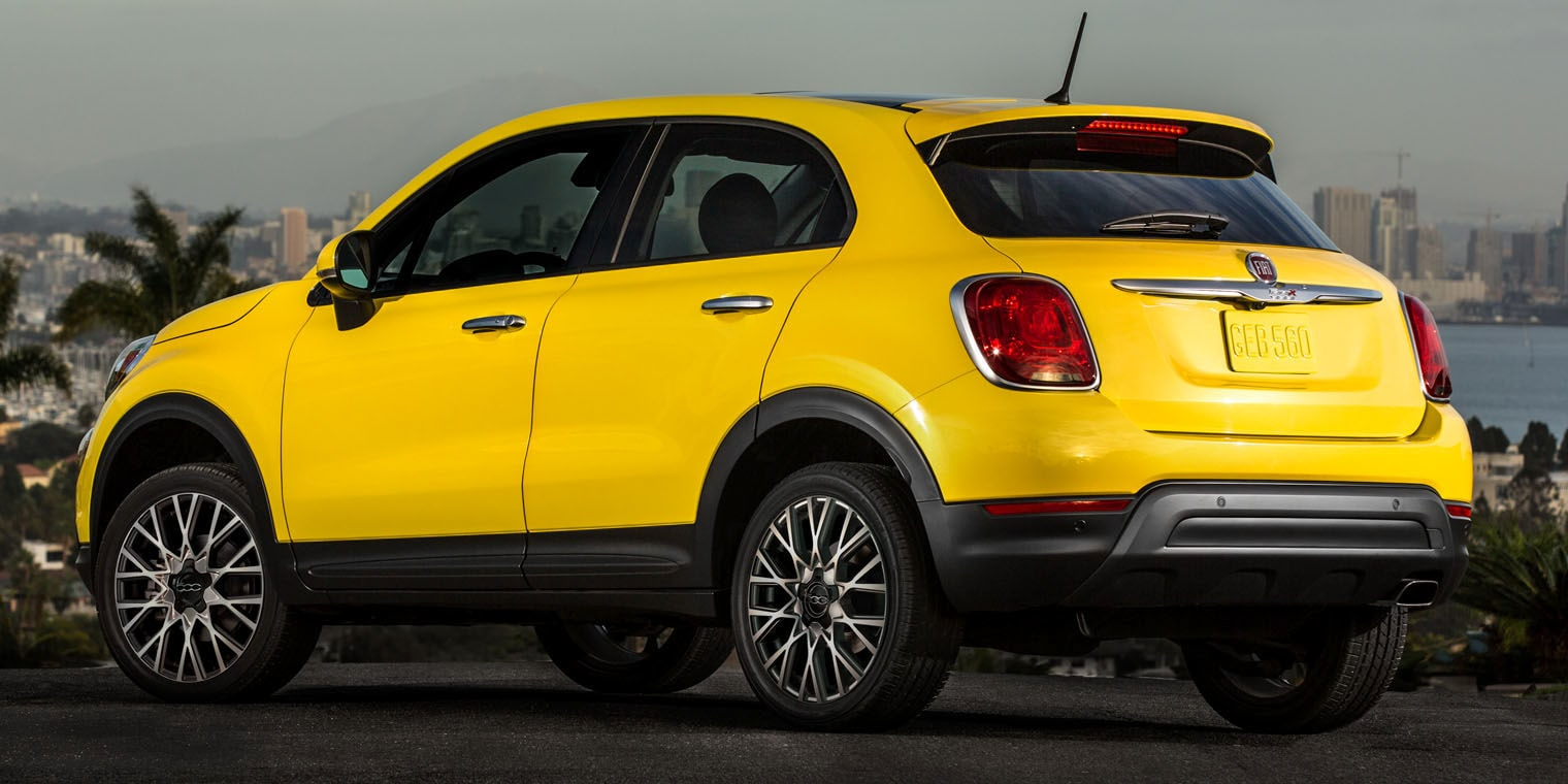 Yellow 2016 FIAT 500X Exterior