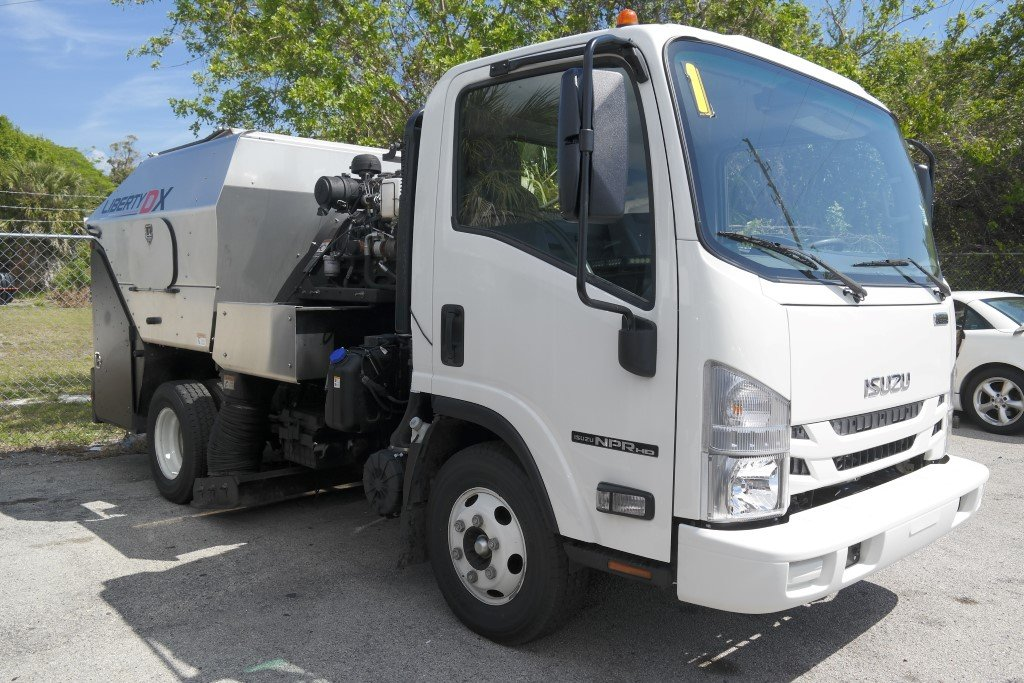 2016 Isuzu NPR HD Liberty DX Sweeper Reg Cab Sweeper