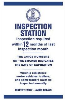 FREE VA STATE INSPECTION