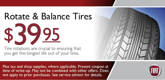 Tire Rotation Balance Coupon Fiat Service Special Scottsdale