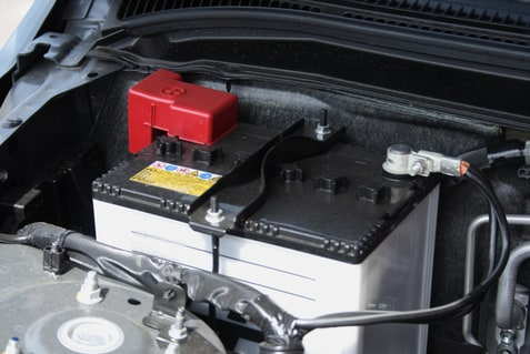 Car Battery Under the Hood