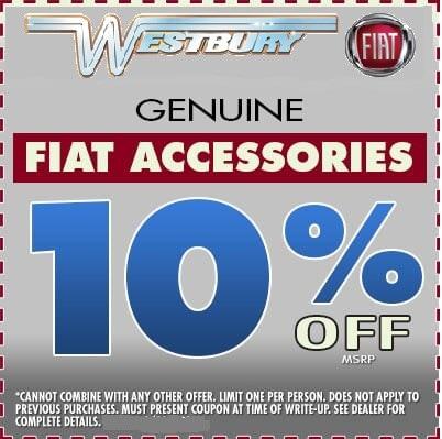 10% OFF FIAT ACCESSORIES