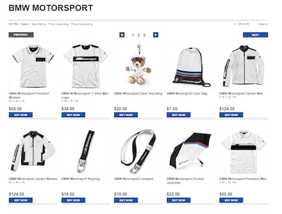 BMW Motorsport Lifestyle Items