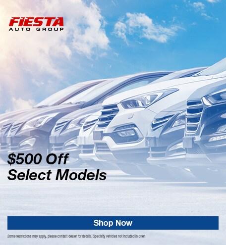 $500 Off Select Models