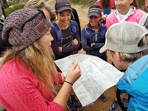 Whiskey Basin training run - Aravaipa Running's Jubilee going over the trail map with the runners - Photo by Chris-R.net