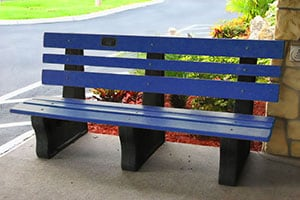 Recycled Park Bench - Subaru Loves the Earth