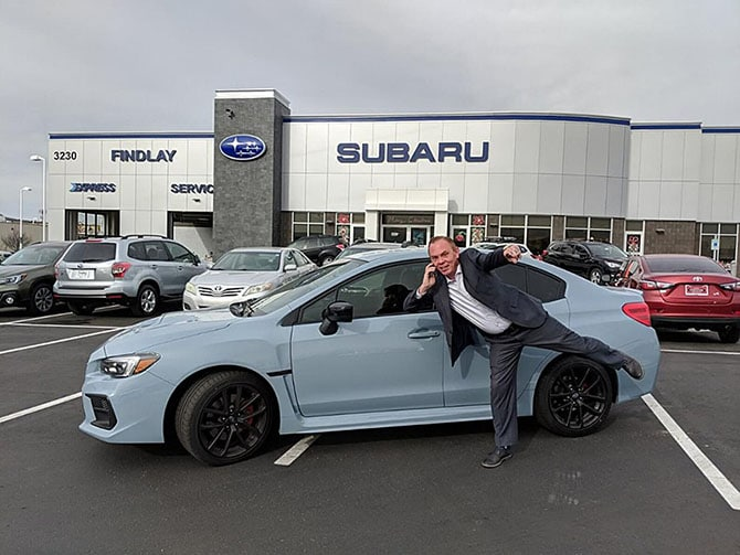 Mister Fister with his 2018 Subaru WRX series.Grey