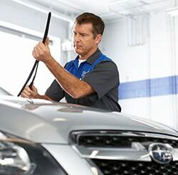 Findlay Subaru Prescott Subaru Technicians can replace your worn wiper blades.