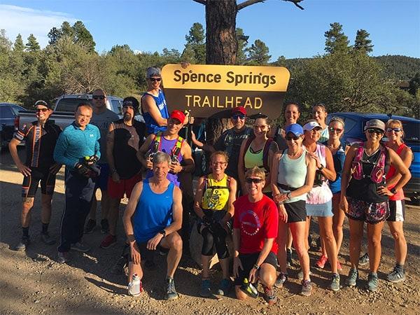 Prescott Area Trail Runners - Group Trail Run from Spence Springs Trailhead. Photo courtesy Noel Kingston