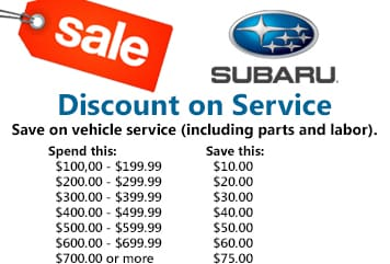 Save on your next vehicle service!