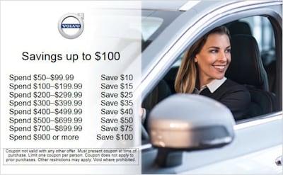 Savings up to $100