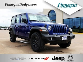 New 2018 Jeep Wrangler UNLIMITED SPORT 4X4 Sport Utility E6240 Only @ Finnegan! Call 281-342-9318 to Reserve This One!