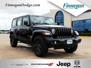New 2018 Jeep Wrangler UNLIMITED SPORT 4X4 Sport Utility Only @ Finnegan! Call 281-342-9318 to Reserve This One!