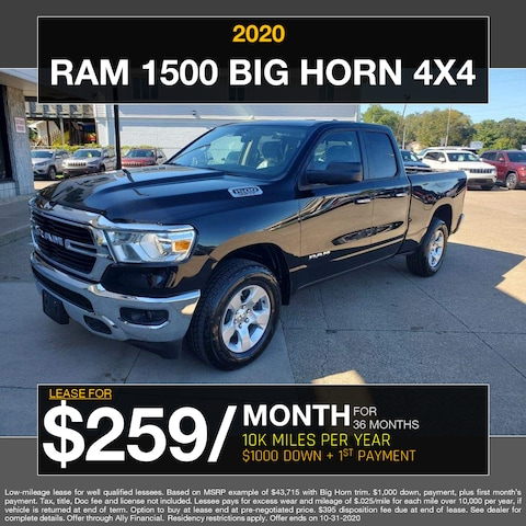2020 Ram 1500 Big Horn 4x4 - Lease for $259/month!