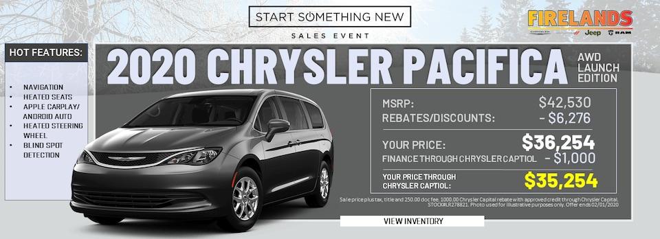 2020 Chrysler Pacifica - $36,254