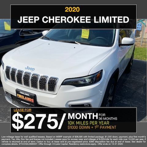 2020 Jeep Cherokee Limited - $275/month!