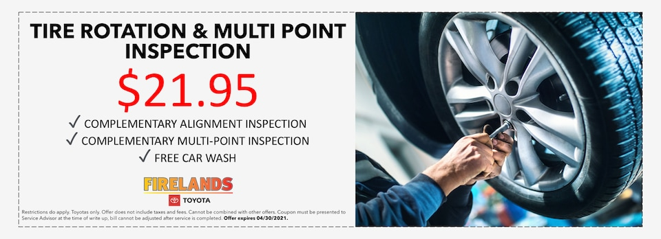 TIRE ROTATION & MULTI POINT INSPECTION