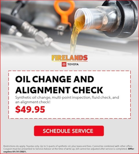 Oil Change and Alignment Check