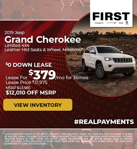 October 2019 Jeep Grand Cherokee Lease
