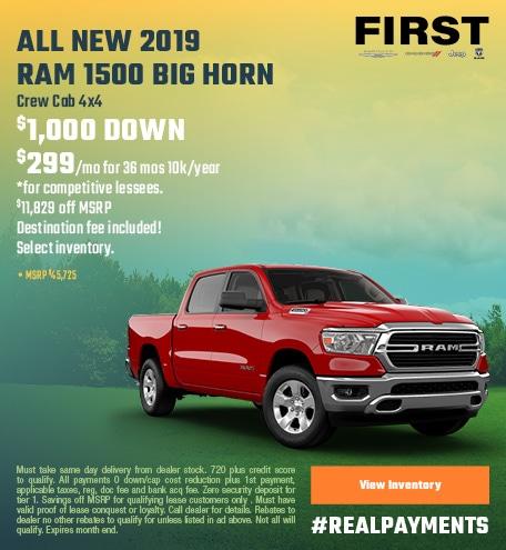 April 2019 Ram 1500 Lease