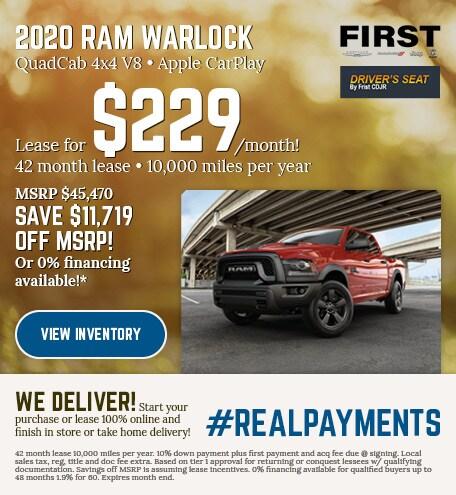 March 2020 Ram 1500 Classic Warlock Lease
